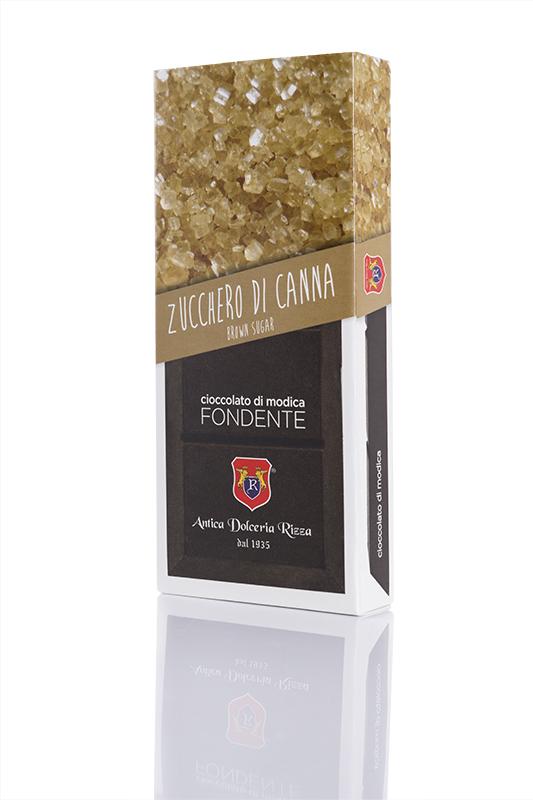 Cioccolato di Modica Fondente con Zucchero di canna Antica Dolceria Rizza