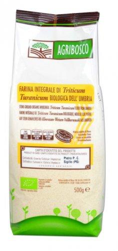 Farina Integrale macinata a Pietra di Triticum Turanicum Bio  Agribosco