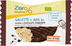 Gallette di Mais e Cioccolato Fondente Bio Fior di Loto