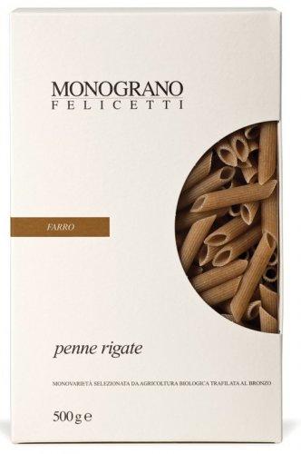 Penne Rigate di Farro Triticum Dicoccum Trafilate al Bronzo Monograno Felicetti