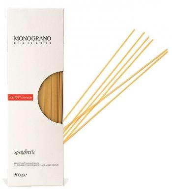 Spaghetti di grano Khorasan Kamut Trafilati al Bronzo Monograno Felicetti