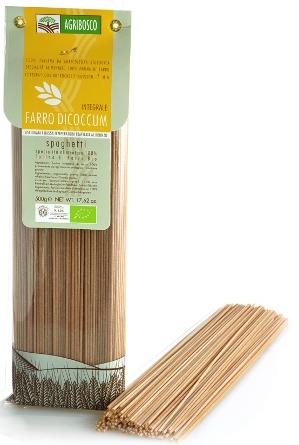 Spaghetti Integrali di Farro Bio Trafilati al Bronzo Agribosco