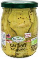 Carciofi con gambo in olio di semi Biorganica nuova