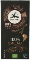 Cioccolato 100% cacao Alce nero fairtrade