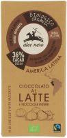 Cioccolato al latte e nocciole intere Alce nero fairtrade