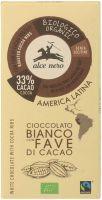 Cioccolato bianco con fave di cacao Alce nero fairtrade