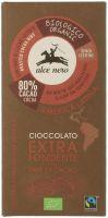 Cioccolato extra fondente con fave di cacao Alce nero fairtrade