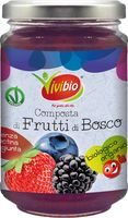 Composta ai frutti di bosco senza pectina Vivibio