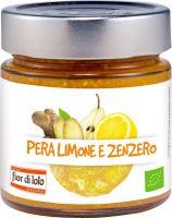 Composta di pera limone e zenzero Fior di loto