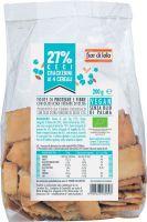 Crackerini integrali con farina di ceci ai 4 cereali Fior di loto