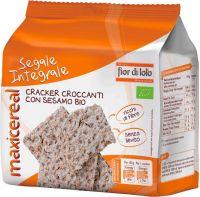 Crackers di segale integrale con sesamo Maxicereal