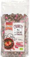 Crunchy al cacao con fragole Fior di loto