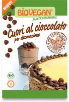 Decorazione cuori al cioccolato Bio vegan