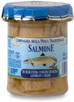 Filetti di salmone in olio extra vergine di oliva Compagnia della pesca tradizionale