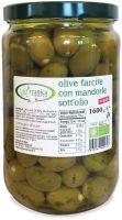 Gastronomia da banco - olive farcite con mandorle sott'olio Biorganica nuova