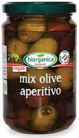 Mix olive aperitivo con olio extravergine di oliva Biorganica nuova