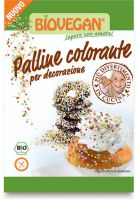 Palline colorate per decorazione Bio vegan