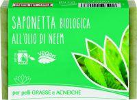 Saponetta all'olio di neem - per pelli grasse e impure Fior di loto