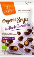 Semi di soia ricoperti di cioccolato fondente Landgarten