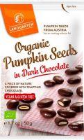 Semi di zucca ricoperti di cioccolato fondente Landgarten