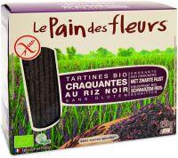 Tartine tostate al riso nero Pain des fleurs