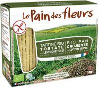 Tartine tostate alle lenticchie verdi Pain des fleurs